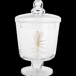 Bonbonière en verre 12,5x21cm décor or