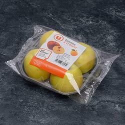 Pomme Chantecler Belchard, U, calibre 150/180g, catégorie 1, France, barquette 4 fruits
