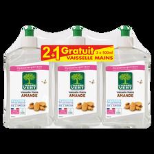 L'Arbre Vert Liquide Vaisselle Amande , 2x500ml + 1x500ml Offert