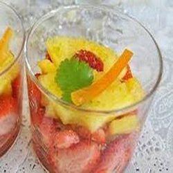 Duo ananas fraise fraîche découpe
