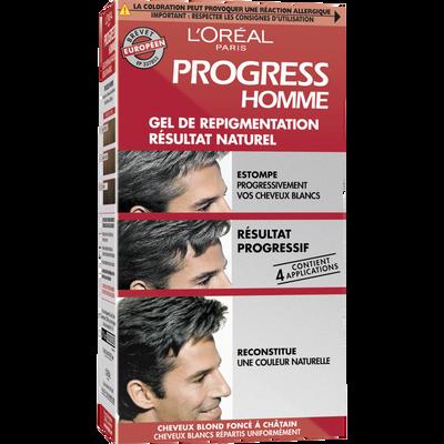 Gel repigmentant progressif Progress Homme L'OREAL, 160ml