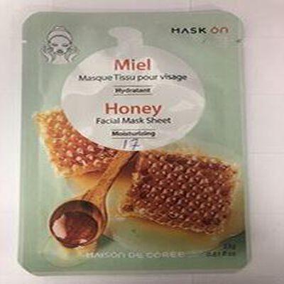 Masque Tissu Pour Visage Miel