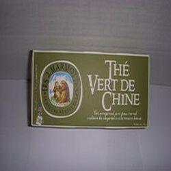 Thé vert de Chine, LES 2 MARMOTTES, la boite de 30 sachets, 45g.