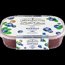 Plein Fruit Sorbet  À La Myrtille Sauvage, La Manufacture Des Belles Glaces, Bac De 488g