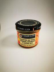 Rillettes de thon tomates, poivrons et olives bio, Le Grand Lejon