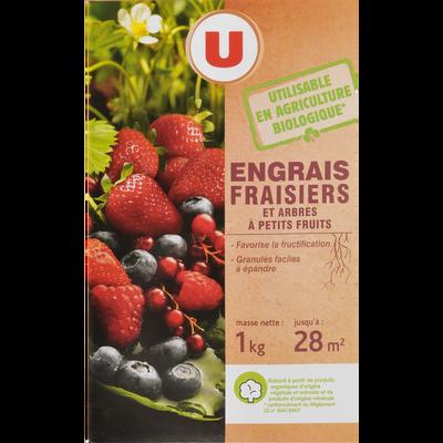 Engrais fraisier U, 1kg, utilisable en agriculture biologique