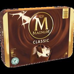 MAGNUM classic vanille chocolat, 4 unités, 316g