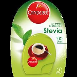CANDEREL, green distributeur stevia, 100 comprimés, 9g