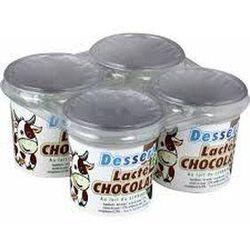 Dessert lacté chocolaté au lait entier bio 4x125g Laiterie La Tourette