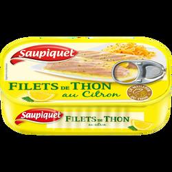 Filets de thon au citron, SAUPIQUET, 115g