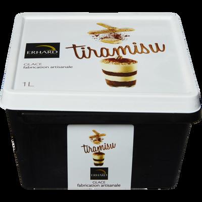 Crème glacée tiramisu ERHARD, bac 1l