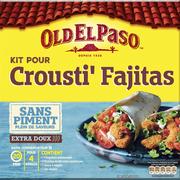 Old El Paso Kit Pour Crousti Fajitas Sans Piment Old El Paso, Paquet De 521g