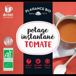 Potage instantané à la tomate PLAISANCE BIO, sachet pour 2 doses individuelles, 17g