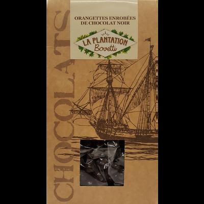 Orangettes enrobées de chocolat noir, LA PLANTATION BOVETTI, sachet de120g