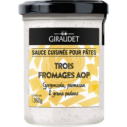 Sauce trois fromages GIRAUDET, bocal 360g