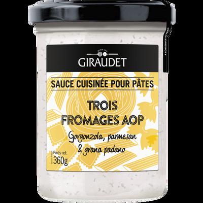 Sauce trois fromages GIRAUDET, bocal 360g