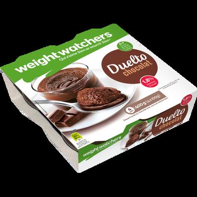 Dessert lacté chocolat duelto 2,8% de MG, WEIGHT WATCHERS, 4x100g
