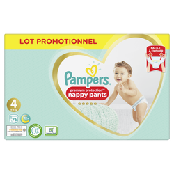 Couches premium protection pants taille 4 8-14kg maxi PAMPERS, x76