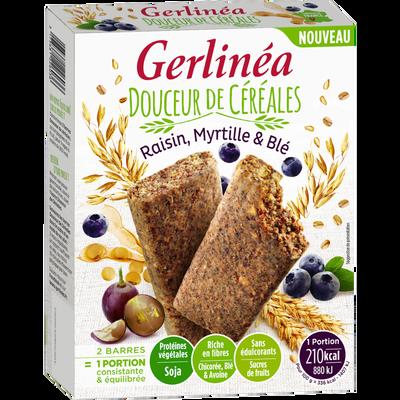 Barres substitut de repas raisin & myrtille GERLINEA, 248g