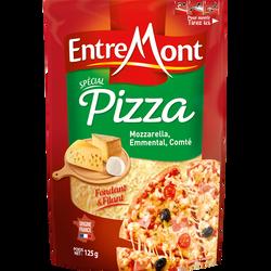 Fromage râpé spécial pizza au lait pasteurisé ENTREMONT, 125g