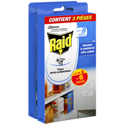 Pièges anti-mites alimentaires RAID, 2x3