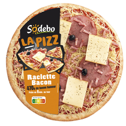 La pizz bacon raclette SODEBO, 470g