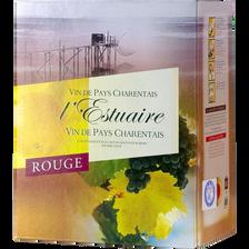 """Vin rouge de pays Charentais """"estuaire"""", fontaine à vin de 3l"""