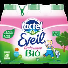 Eveil bio LACTEL, 6 bouteilles de 1l
