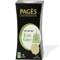 thé vert bio earl grey PAGES 20 sachets