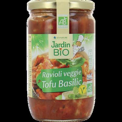 ravioli tofu basilic *  bocal verre de 675g g