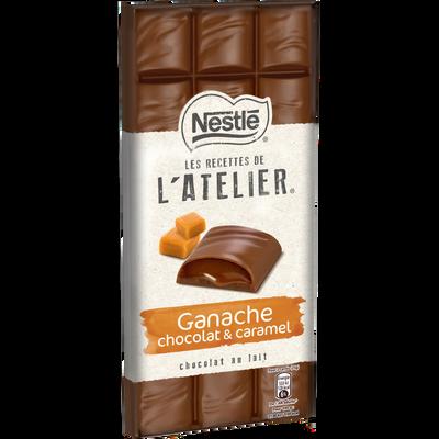 Chocolat lait ganache chocolat caramel les recettes de l'atelier, NESTLE, 150g