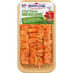Brochette de dinde extra tendre marinée à la mexicaine, MAITRE COQ, 4pièces