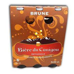BIERE DU CANIGOU BRUNE 3 X 33 CL