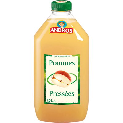 Jus de pomme ANDROS, bouteille en plastique de 1,5 litre