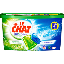 Le Chat Lessive Duo Bulles L'expert , Boîte De 30 Caps De 0,750g