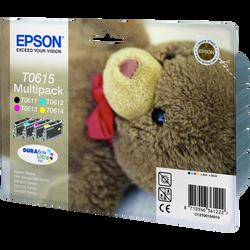 Pack 4 cartouches d'encre EPSON pour imprimante, T0615 Nounours, sousblister