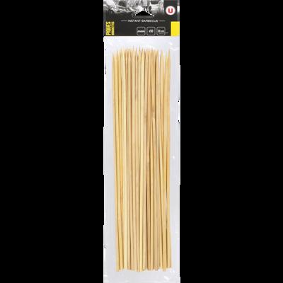 Brochettes U, en bambou, 50 unités