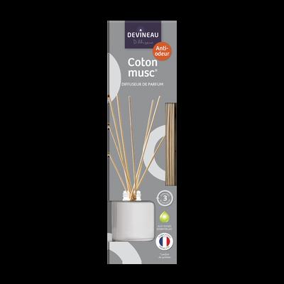 Diffuseur parfum à froid, coton musc, 50ml, coloré, anti odeurs