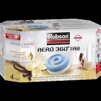 Recharges AERO 360, aromathérapie confort, vanille, 4 unités