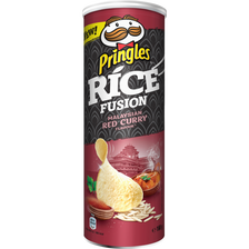 Pringles Chips Goût Rice Fusion Malaysian Red Curry , 160g
