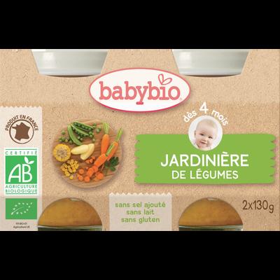 Pot jardinière de légumes BABYBIO, dès 4 mois, 2x130g soit 260g