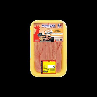 Aiguilette de dinde cuisson minute, MAITRE COQ, France, barquette, 280g