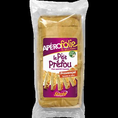 Le p'tit préfou pain apéritif tranché provençal APEROFOLIE, 135g