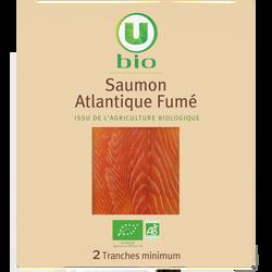 Saumon atlantique issu de l'agriculture biologique U BIO, 2 tranches,60g