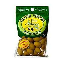 Olives vertes pitcholine LE BRIN D'OLIVIER, 150g