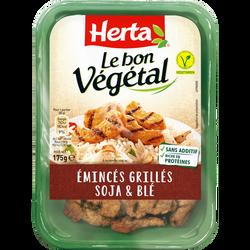 Emincés grillés soja et blé Bon Végétal HERTA, barquette de 175g