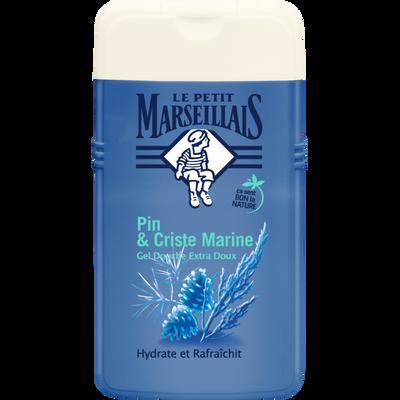 Gel douche extra doux aux huiles essentielles de pin et criste marineLE PETIT MARSEILLAIS, flacon de 250ml