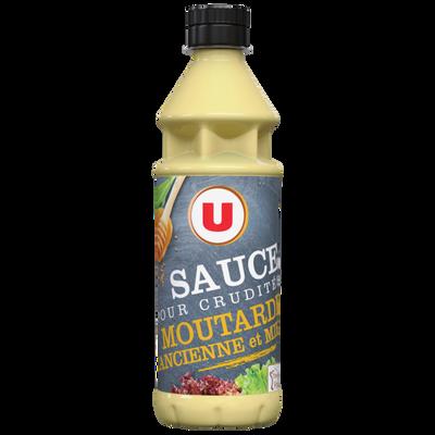 Sauce crudité moutarde ancienne miel U, 350ml