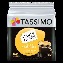 Café en dosettes Petit Déjeuner CARTE NOIRE tassimo, 16 unités,133g