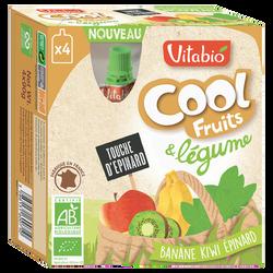 Compote Cool légumes banane kiwi épinard VITABIO, 4 gourdes de 90g